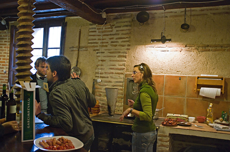 Owner, Antonio Paloma and his sister, Manuela prepare us breakfast at Garciarevalo.