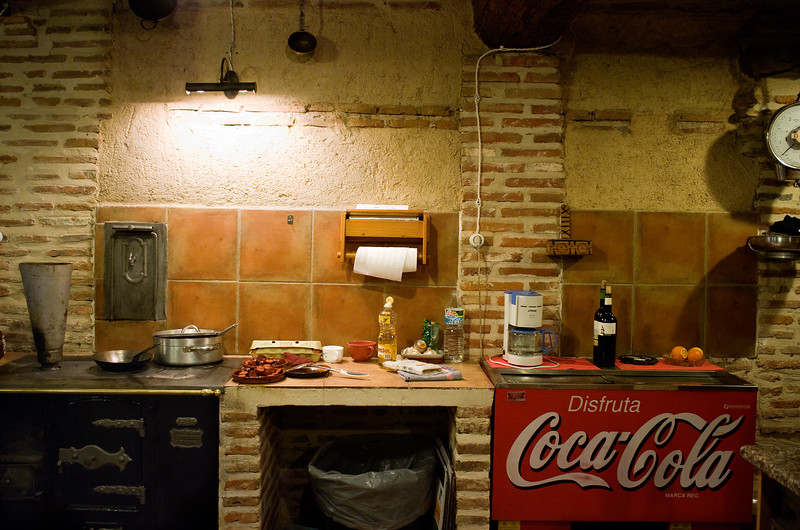 Kitchen at Garciarevalo in Rueda.