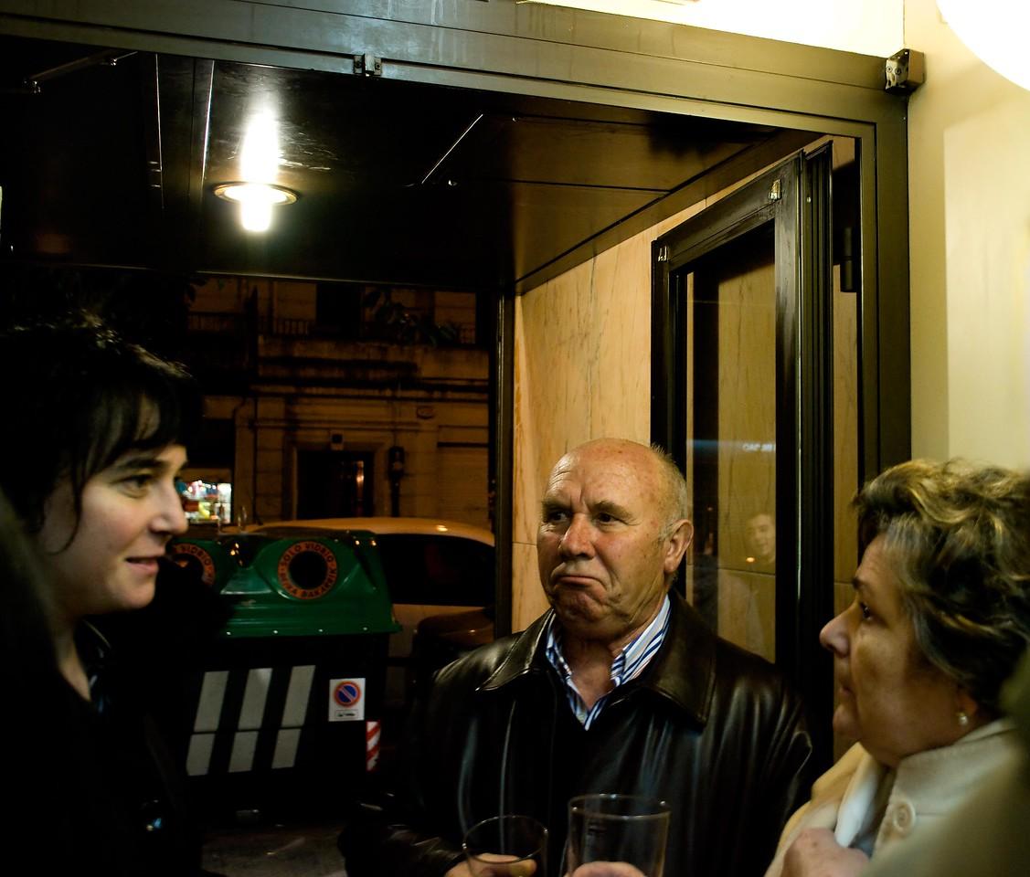 Patrons at Tapas Bar in Bilbao, Spain.