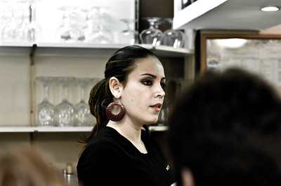 Bartender at Popular Bilbao Tapas Bar. (Pentax K20D with FA 50mm 1.4 lens.)