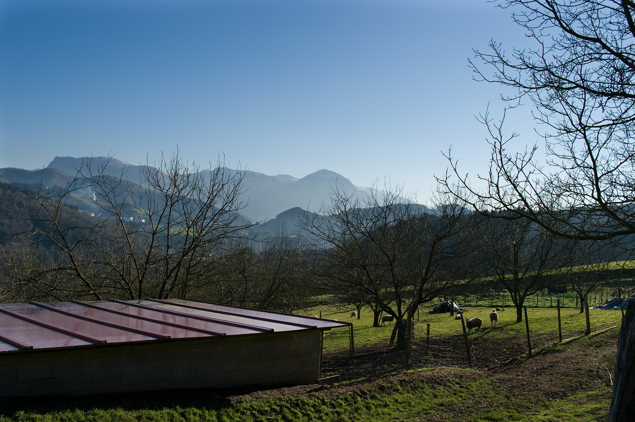 View of the Basque country at Isastegi.