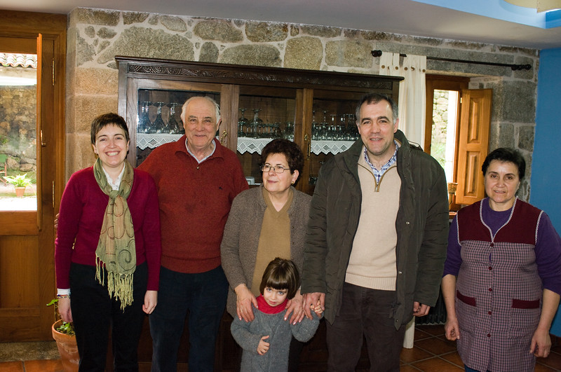 The family of Ramon Losado of D. Ventura in Rebeira Sacra.
