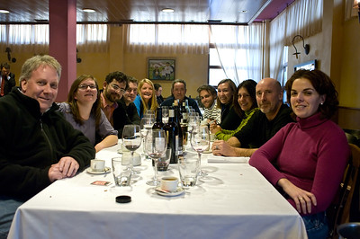 Lunch with Ostatu at a restaurant in Rioja.