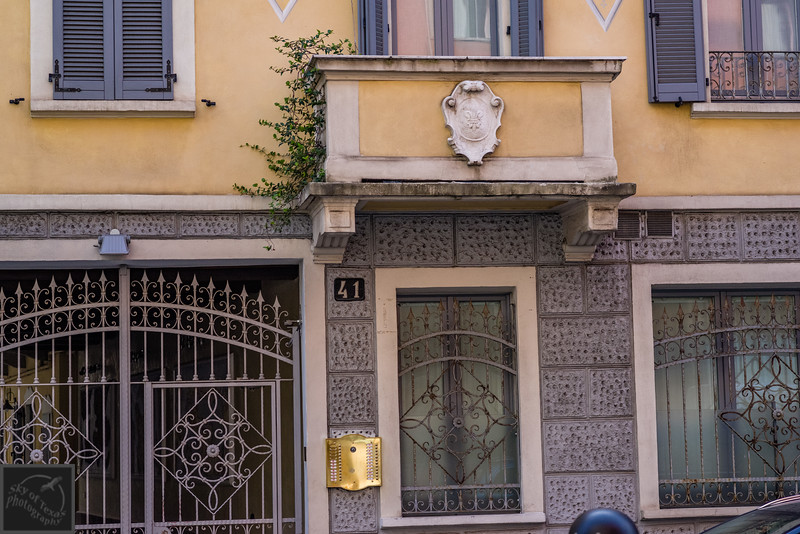 A beautiful display of texture, filigree ornamentation, and velvety rich color combination in Milan.