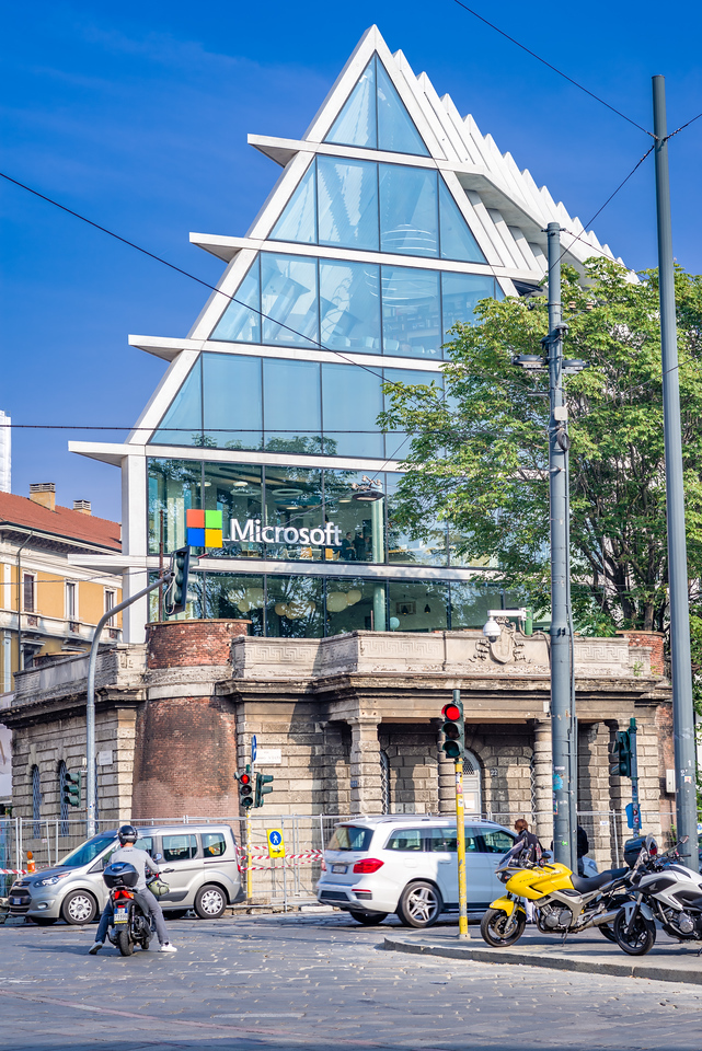 The Microsoft Building in Milan.