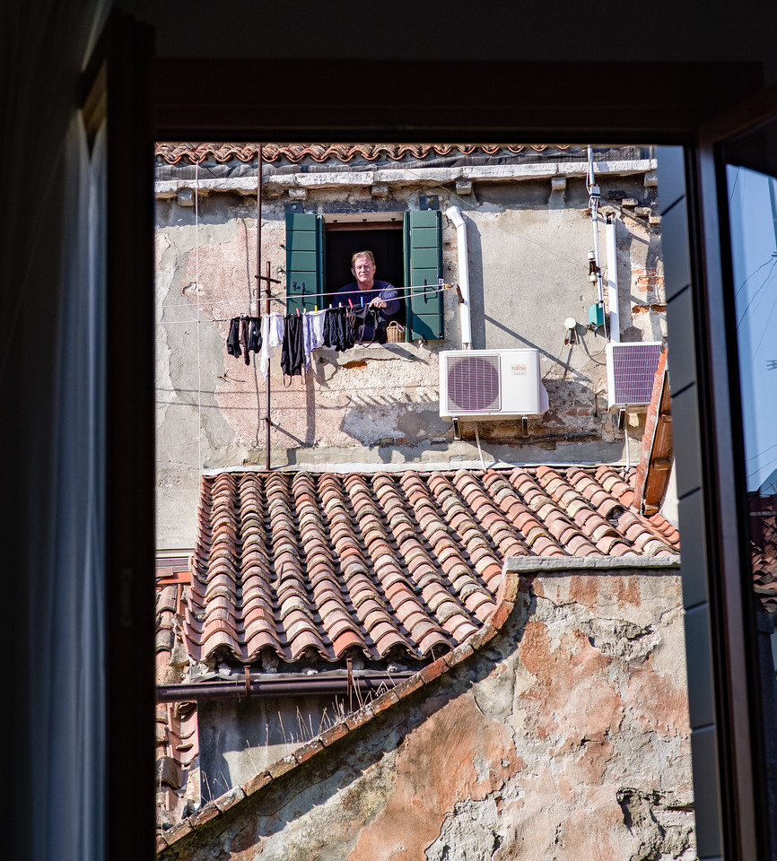 View from the windows of our apartment in Venice.