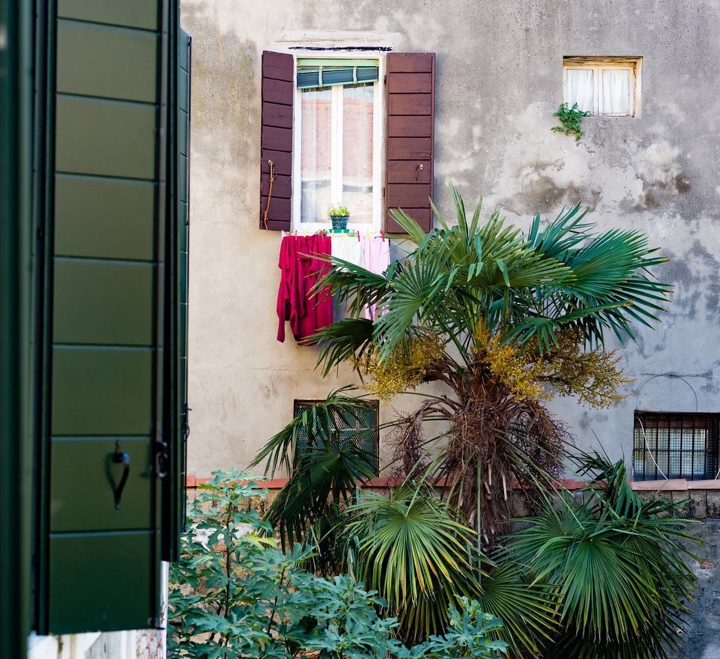 Outside our front door in Venice.