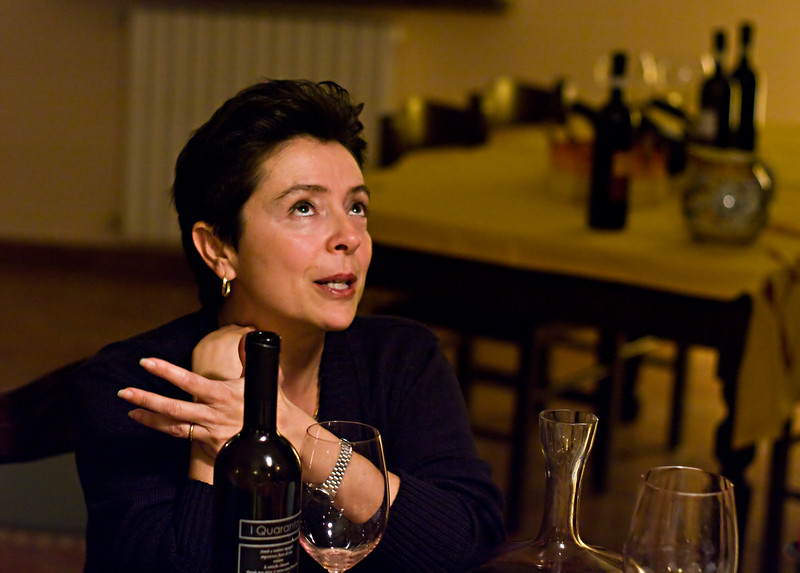 Annalisa Battuello, owner & winemaker of Tenuta I Quaranta in the Asti wine region of the Piedmont in Italy.