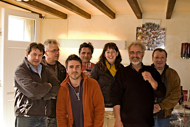 A Gang of Cru Beaujolais Producers: Bernard Diochon, Michel Chignard, Thevenet, Breton, Foillard, and Jean-Jacques Robert of Domaine Robert-Denogent, Pouilly-Fuisse.