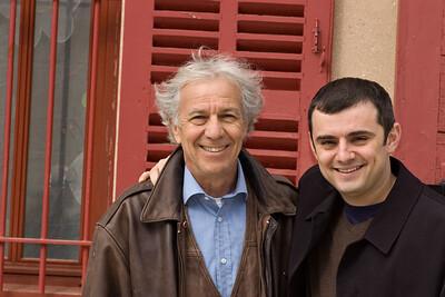 Francois Sack-Zafiropulo (left) of Clos Ste. Magdeleine, Cassis/Provence.