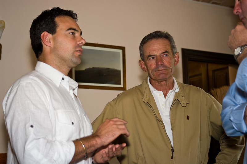 Daniel Prinsi and father, of the Prinsi winery in the Barberesco wine region of the Piedmont, Italy.
