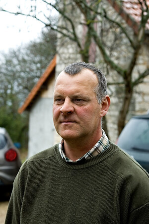 Laurent Martelet, winemaker for Domaine Comtesse Bernard de Cherisey, Puligny-Montrachet.