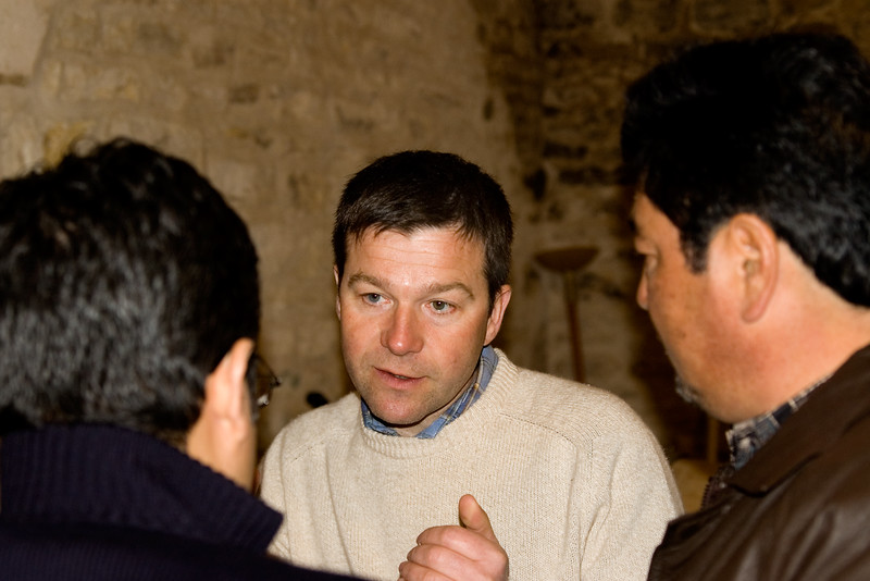Arnaud Ente (center) of Arnaud Ente, Meursault.
