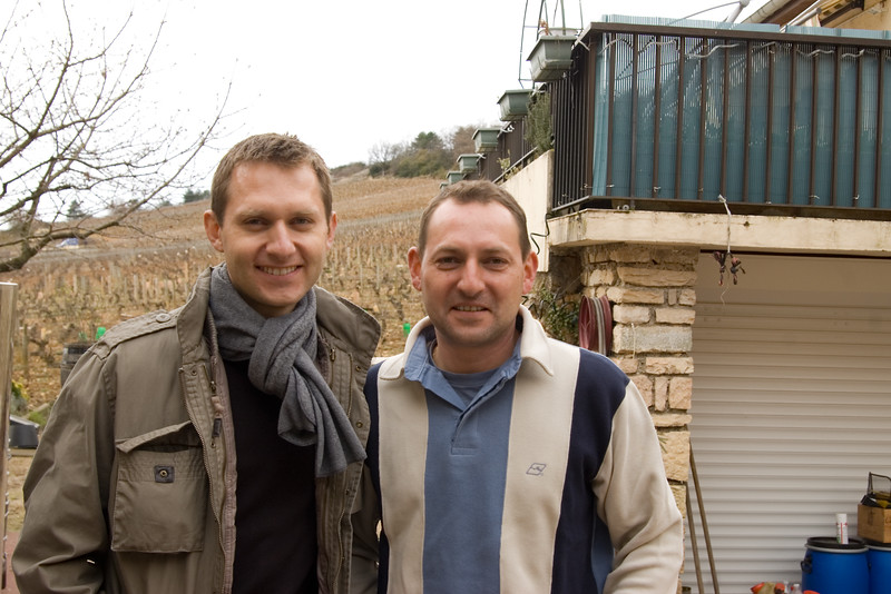 Sons of Guy Amiot of Domaine Amiot Guy et Fils, Chassagne-Montrachet.