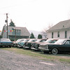 April 1989:  Look at all those Kaisers !  This was a small used car lot in the Middletown-Highspire-Steelton, Pennsylvania area.  I was a student at Penn State Harrisburg at the time and used to pass by this place a lot.