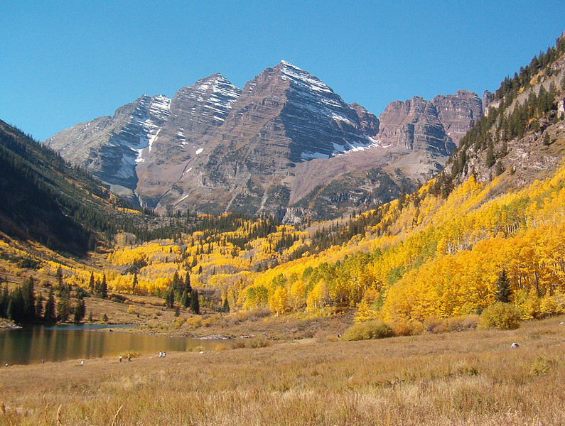 Maroon Bells, Aspen, Colorado. 2003.