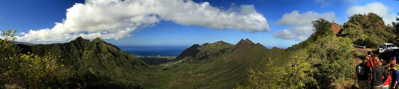Mount Kaala towards Makaha, Oahu, Hawaii.