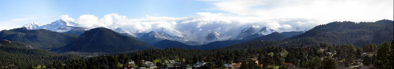 View from Stanley Hotel, Estes Park, Colorado. May 2008.