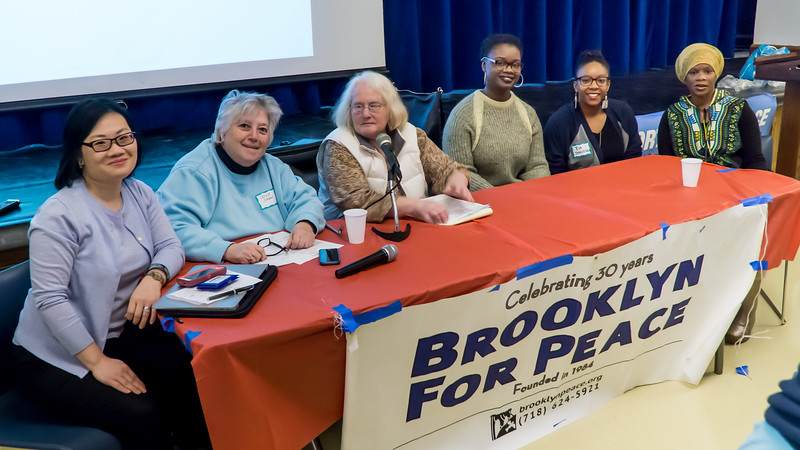 The afternoon panel. Community activists in various areas of work shared their ideas on how to build a united movement to defeat Trumpism.