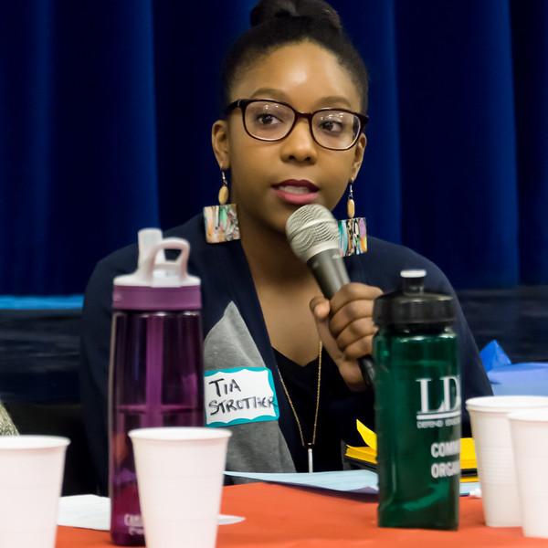 Tia Strother, FUREE Program Coordinator, urged a recognition that the capitalist system lay behind the evils of racism, male supremacy. She also emphasized the need for an emphasis on local organizing.