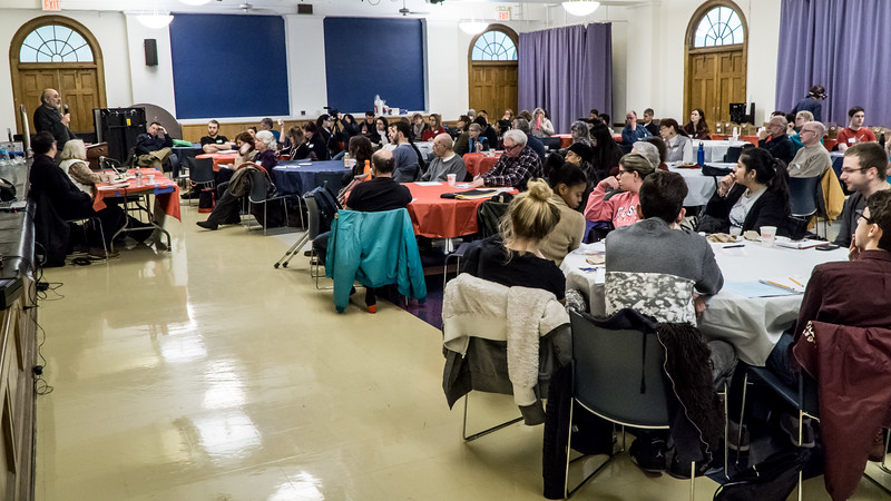 Over 120 people attended the Teach-In which was held at St. Joseph's College in Clinton Hill, Brooklhyn.