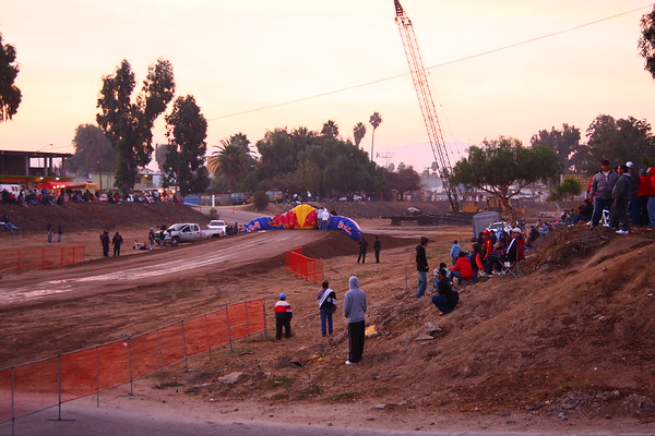 Inflating the Red Bull Arch in the morning before race- they cut it pretty close here, the first bike out crossed this arch only about 5 minutes after full inflation!