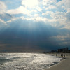Rays through the clouds, Long Beach, NY