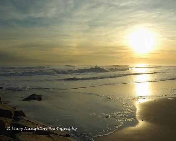 Long Beach Waves & Sunset, November 2009