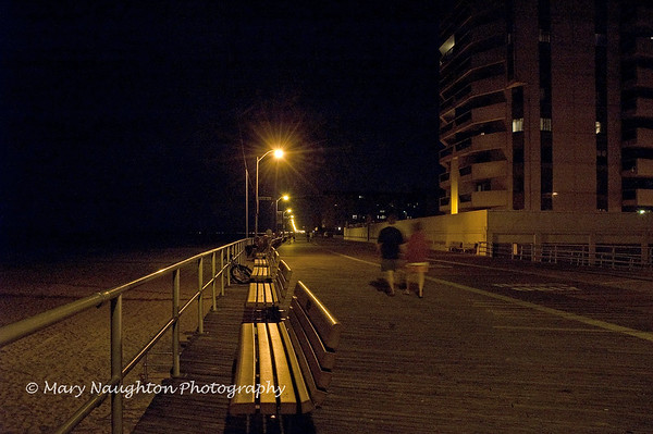 Boardwalk at night, Long Beach, NY