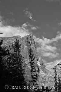 The moon over Hallet Peak