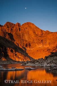 Chasm Lake, The Diamond and the Moon