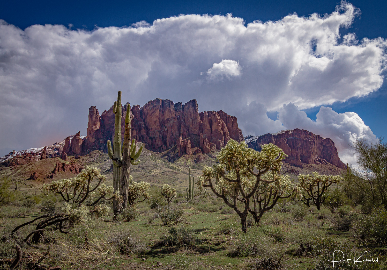 Snow in the Superstitions