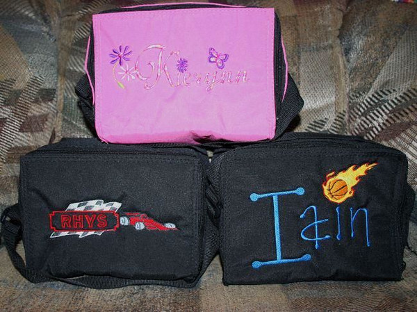 "Thanks to Denise who shared these on <a href=""https://www.facebook.com/EasyLunchboxes/"">our Facebook wall</a>! ""Here are our easylunchbox coolers, all decorated out. I think the kids will be thrilled to see them. The design is on the lid but turned the cooler so you could see the design easier."""