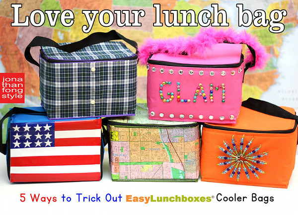 Decorate your EasyLunchboxes Cooler bag.