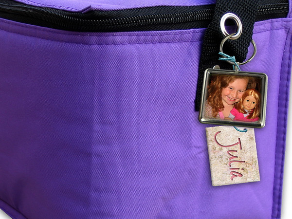 Personalized with a photo for a loving Grandma to take to work!