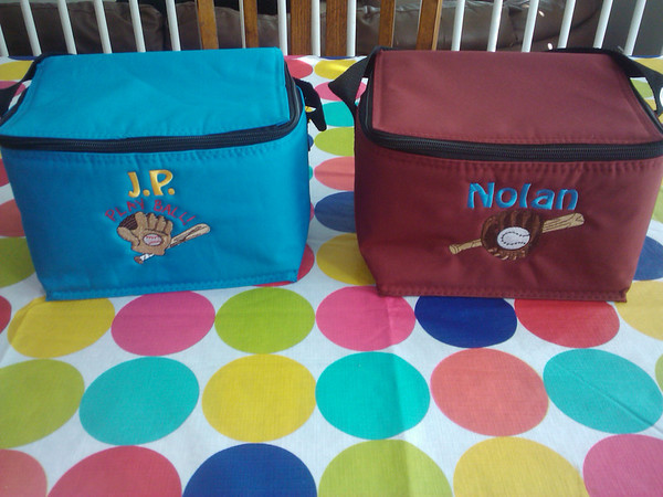 Carrie found a way to spruce up our cooler bags and she sent this pic and wrote that her kids love them. We do too! These are adorable!