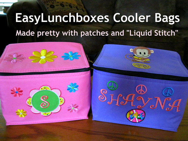 Thanks for sharing your girls' adorable cooler bags with us Stacey! All ready for the first day of school!