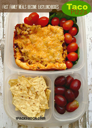 Taco Pizza lunch box. For school or work