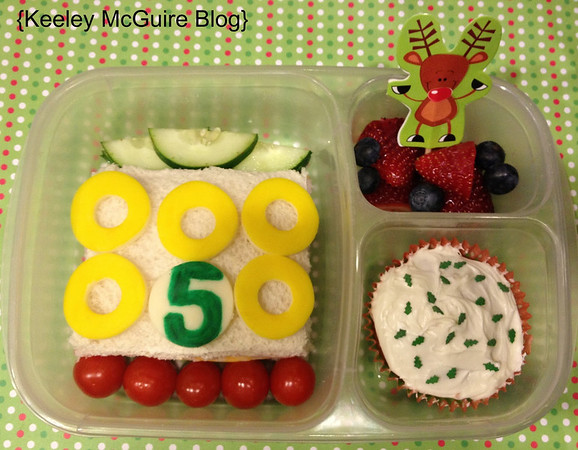 Christmas countdown in a lunch box