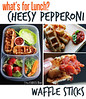 Cheesy Pepperoni Waffle Sticks