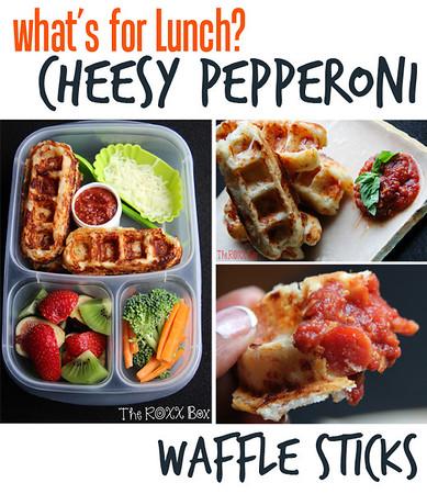 Cheesy Pepperoni Waffle Sticks