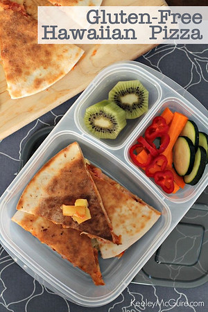 Gluten Free Hawaiian Pizza Lunch