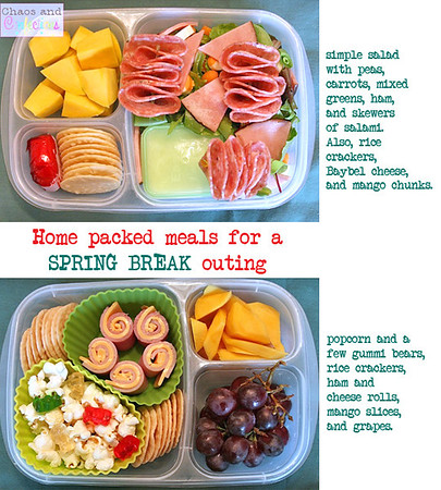 Yummy lunch ideas for packed lunch boxes easylunchboxes spring break lunches forumfinder Choice Image