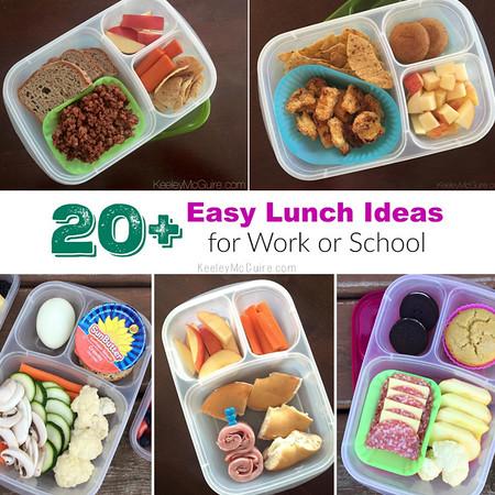 20+ Lunch Ideas