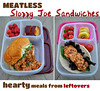 Meatless sloppy joe sandwiches