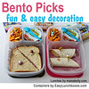Bento pick for fun lunches