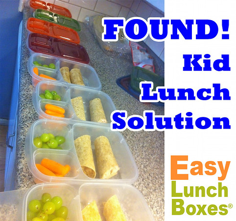 Lunch packing for kids. Made easy with EasyLunchboxes