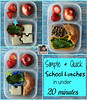 Simple and quick school lunches in under 20 minutes