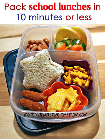 Pack lunch in under 10 minutes