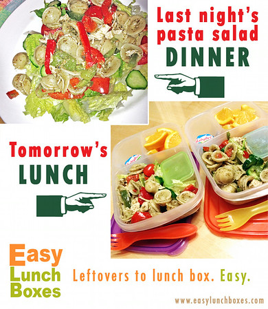 Leftovers to lunch box